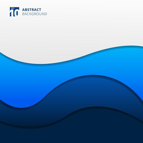 Abstrakt blå vågor bakgrund. Vektor illustration