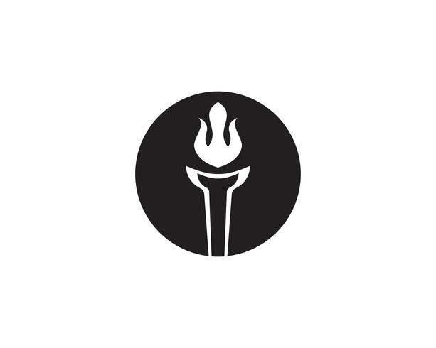 T inicial para inspiração de design de logotipo e símbolo da tocha