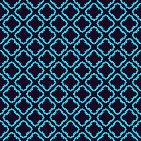 Seamless geometric lines ornament pattern, linear pattern with thin elegant blue color ornamental wallpaper.