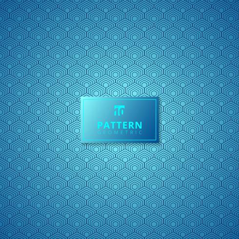 Impression de fond abstrait hexagone bleu.
