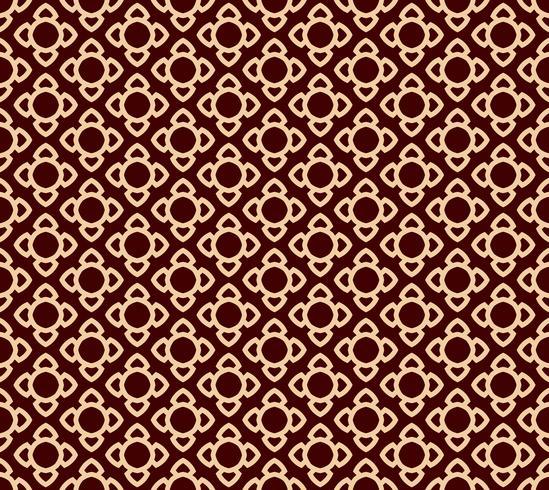 Patrón de línea geométrica perfecta. Diseño gráfico contemporáneo. Textura lineal sin fin para fondos de pantalla, rellenos de patrón, fondo de línea de página web. Monocromo adorno geométrico marrón dorado vector
