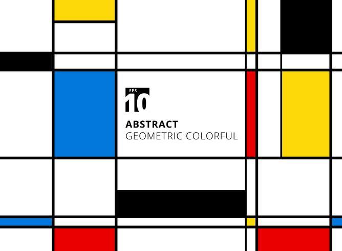 Resumen patrón geométrico de colores para la replicación continua con líneas sobre fondo blanco. vector