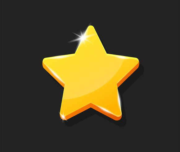 Estilo brilhante bonito dos desenhos animados da forma da estrela. vetor