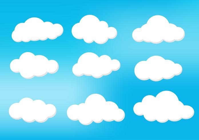Nuvole nel cielo in varie forme. Luce e ombra rendono l'immagine bellissima. Può essere usato per una varietà di compiti. Il cartone animato, il design e molti altri.