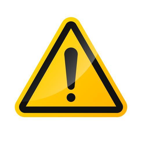 Vector de señales de advertencia de señal de peligro de alto voltaje aislado en un fondo blanco