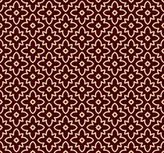 Sin fisuras patrón lineal con elegantes líneas curvas y rollos de papel tapiz ornamental. vector