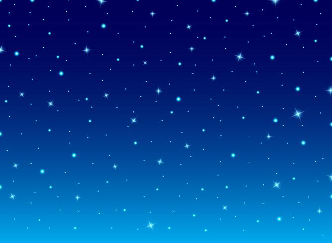 Abstract night blue sky with stars cosmos background. vector