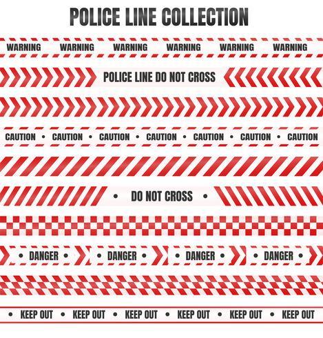 Rode en witte politieband Ter waarschuwing van gevaarlijke gebieden vector