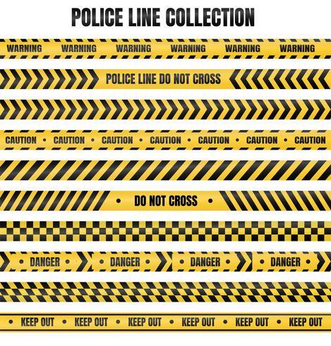 Geel en zwart politiebandje Ter waarschuwing van gevaarlijke gebieden