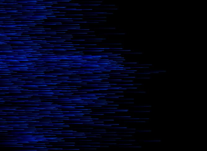 Abstract technology data conection speed blue lines on dark background.