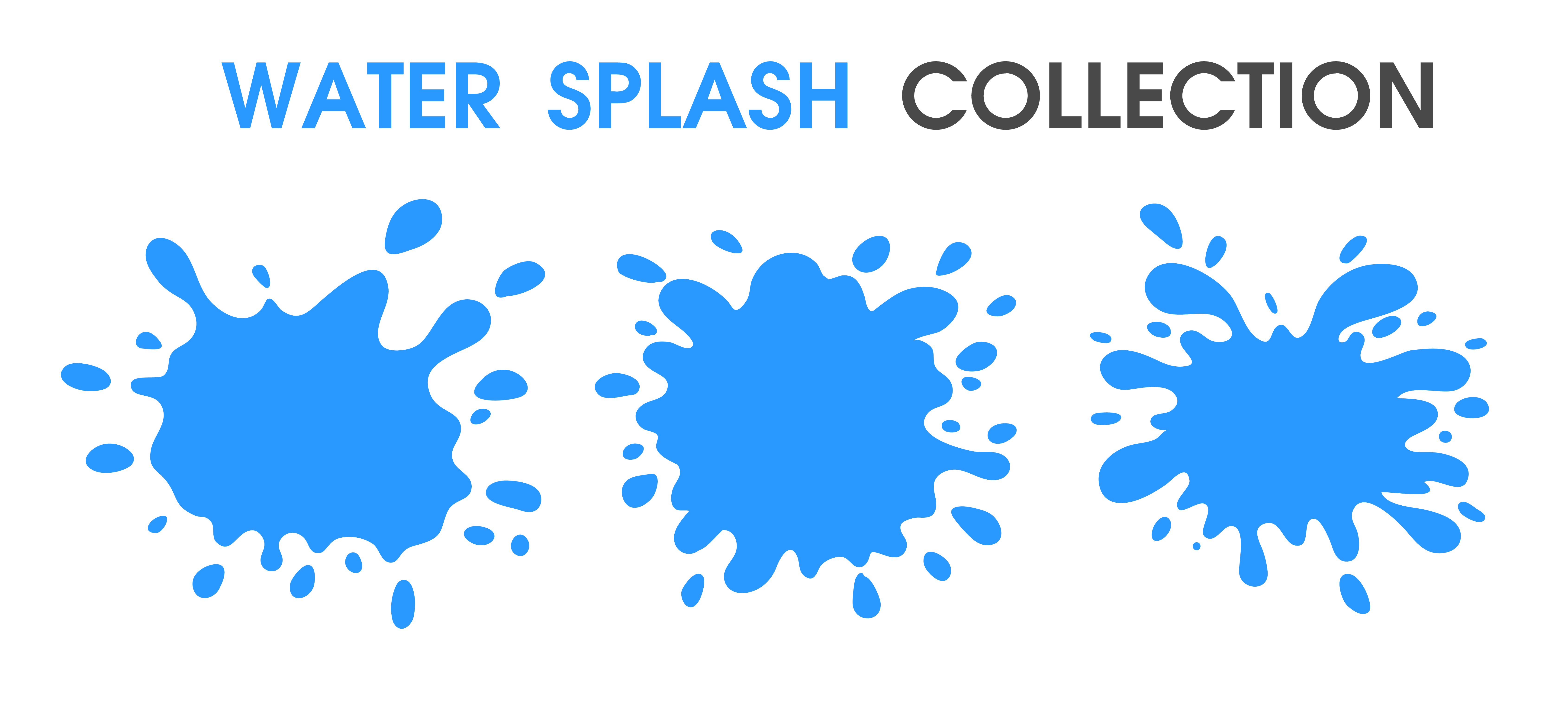 Water Splash collection simple cartoon style. - Download ...