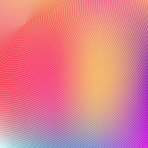 Cerchi concentrici astratti futuristici su sfondo colorato.
