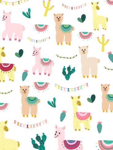 Llama y Cactus Clipart Bundle, No Drama Llamas Graphics Set.