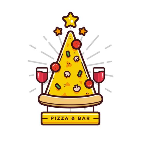 Pizza-Logo-Vektor
