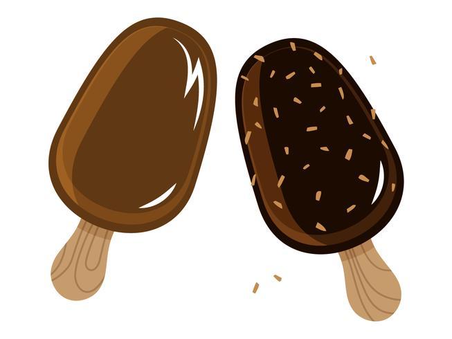 Barras de helado cubiertas de chocolate