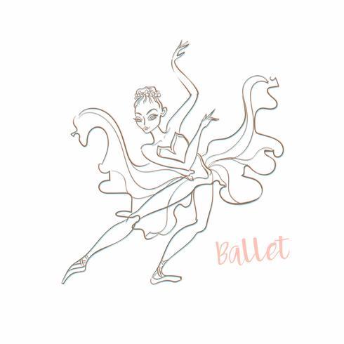 Ragazza ballerina Balletto. Logotype. Vector.Girl ballerina. Balletto. Logotype. Ballerino. Illustrazione vettoriale