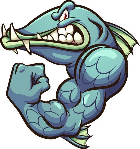 Strong Barracuda Mascot