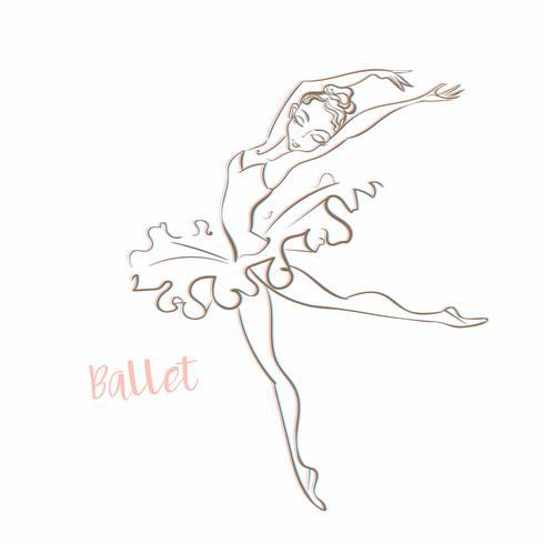 Mädchen Ballerina. Ballett. Logo. Vector.Girl Ballerina. Ballett. Logo. Tänzer. Vektor-illustration