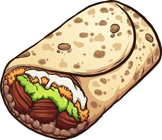 Burrito saboroso dos desenhos animados