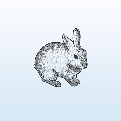 Stripple Dot Animal Rabbit Drawing