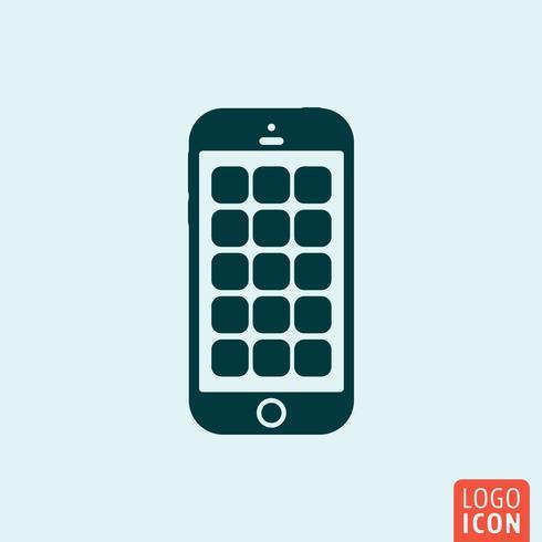 Ícone do smartphone. Design minimalista do telefone móvel