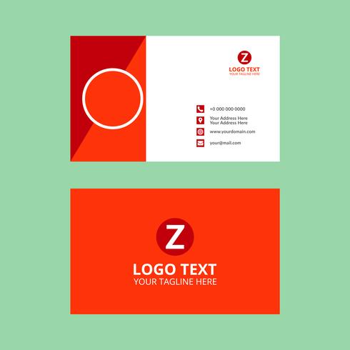 Red awesome business card vector