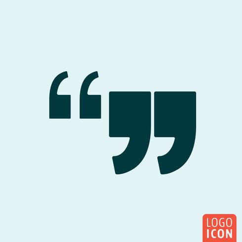 Commas icon minimal design