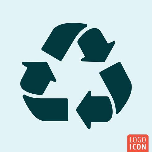 Recycle arrows icon minimal design vector