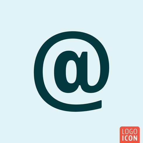 E-postikon. E-postskylt minimal design