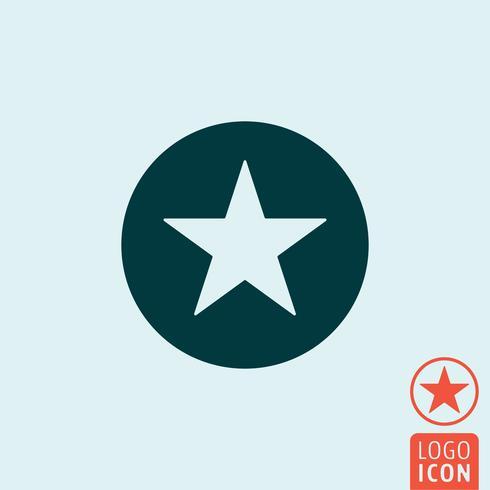 Icono de círculo de estrellas vector