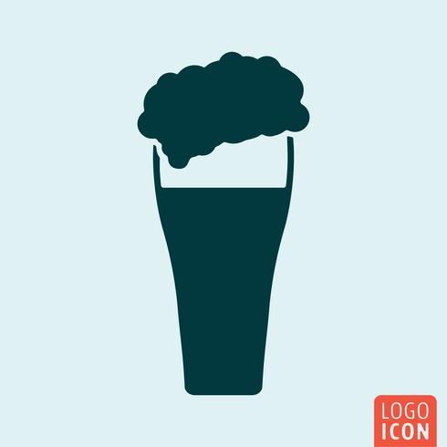 Icono de cerveza aislado vector