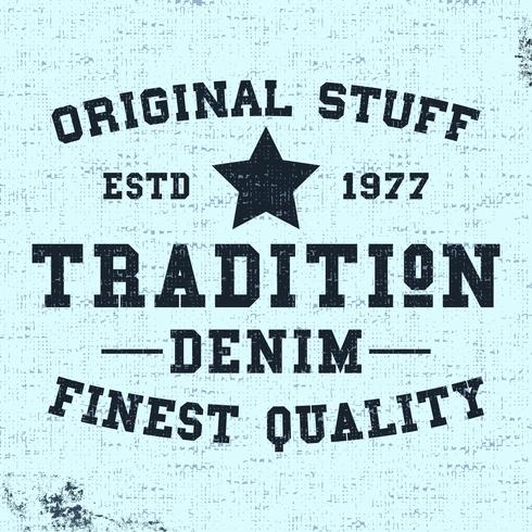 Traditie vintage stempel