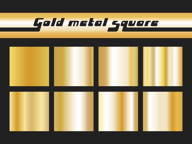Gradiente de oro cuadrado vector
