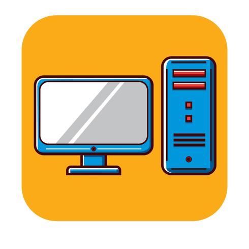 Plantilla de logotipo gratis para computadora personal vector