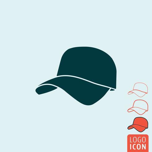 Icône de casquette isolée