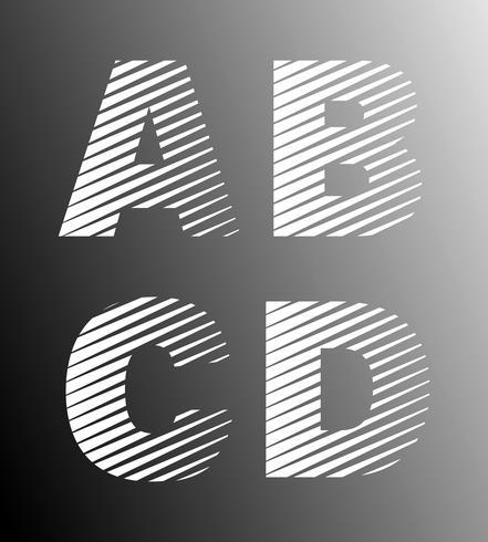 Strip font template vector