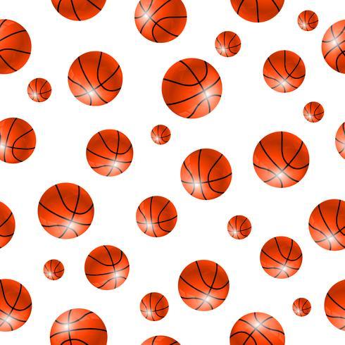 Fundo sem emenda de bola de baskettball