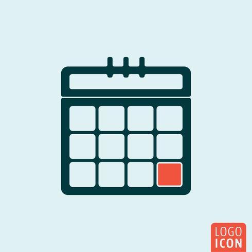 Hoja de calendario aislado