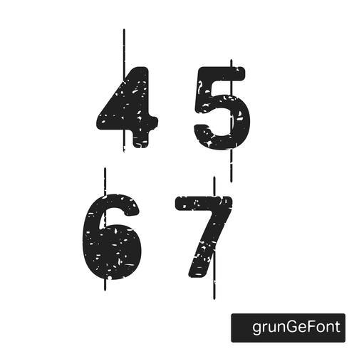 Alphabet grunge font
