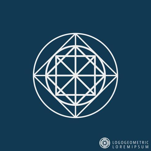 Plantilla de línea de logotipo vector