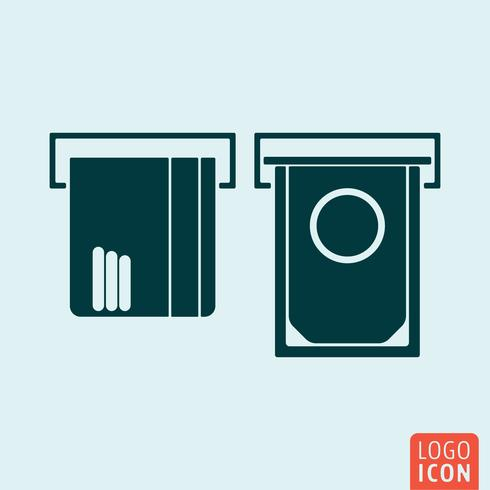 ATM icon isolated vector