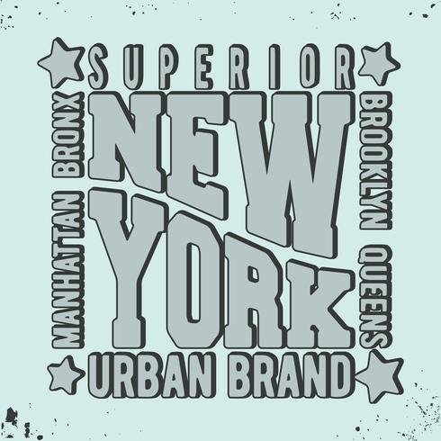 New York vintage frimärke