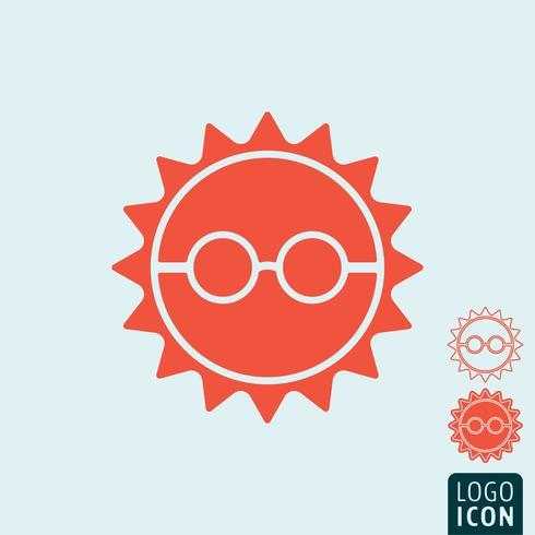 Icono de sol aislado vector
