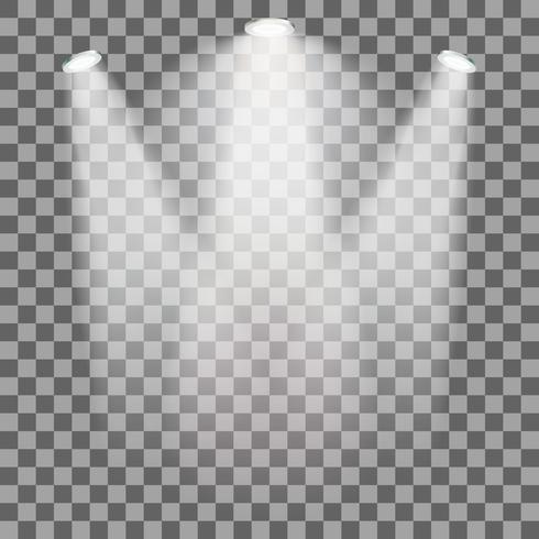 Stage illuminated spotlight vector