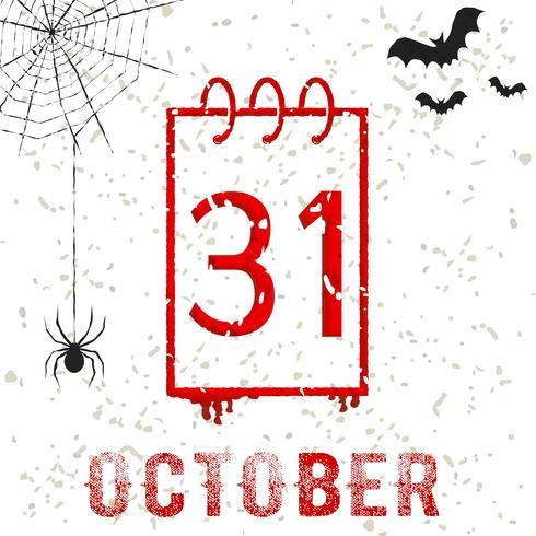 Halloween 31 de octubre vector