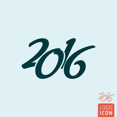 Icono de 2016 aislado vector