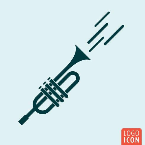 Trumpet icon isolated vector
