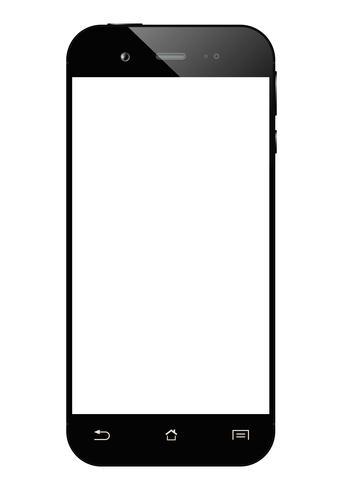 Black smartphone isolated vector