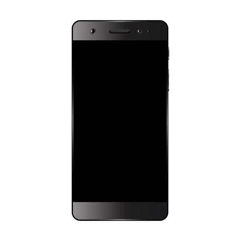Black smartphone isolated