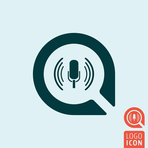 Mikrofon-Symbol isoliert